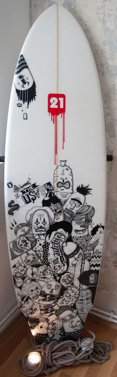Amazing surfboard art