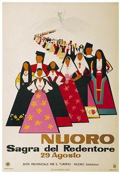 PosterImage - Nuoro Sardegna Sagra del Redentore 1954 Mario Puppo