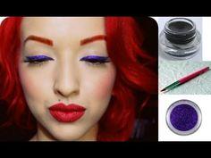 Pinup Doll Ashley Marie - Glitter Eyeliner Makeup Tutorial