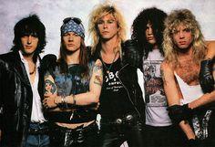 Guns N' Roses - Izzy Stradlin, Axl Rose, Duff Mckagan, Slash & Steven Adler