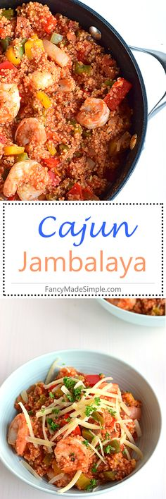 Easy and delicious one-pot Cajun jambalaya recipe. Learn how to cook jambalaya at FancyMadeSimple.