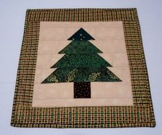 Christmas Tree Quilted Table Topper by ForgetMeNotQuilteds on Etsy