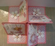 quadruple square easel card, finished size 8 x 8 3d Cards, Easel Cards, Stampin Up Cards, Fancy Fold Cards, Folded Cards, Tarjetas Pop Up, Card Making Templates, Karten Diy, Step Cards
