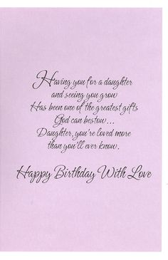Christian Birthday Cards For Daughter