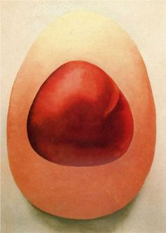 Red and Pink Rocks - Georgia Totto O'Keeffe (11/15/1887 – 3/6/1986) American…