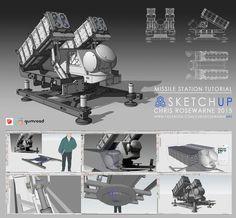 SketchUp Missile Launcher Tutorial, Chris Rosewarne on ArtStation at https://www.artstation.com/artwork/sketchup-missile-launcher-tutorial
