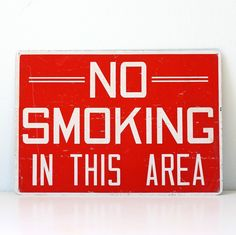 Vintage No Smoking Sign by bellalulu on Etsy
