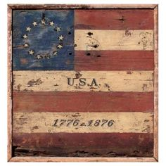 Check out this item at One Kings Lane! USA Flag, 1776-1876