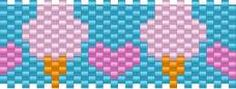 Cotton Candy Pony Bead Patterns | Food Kandi Patterns for Kandi Cuffs