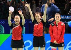 卓球女子団体、銅メダル 3位決定戦でシンガポール破る:朝日新聞デジタル