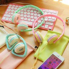 Earphones Candy Color Foldable Kids Headset