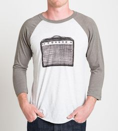 Men's Amp Raglan T-Shirt | At first glance this baseball t-shirt seems pretty tame, with ... | T-Shirts