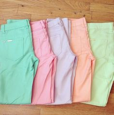 Pastel Skinnies . I NEED THESE!!!! Perfect for BYU modesty standards!