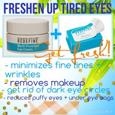 Freshen up those tired eyes with Rodan & Fields eye cream and eye cloth combo. 81$ for the combo message me today!