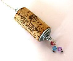 Rodney Strong Wine Cork pendant Wine cork by BackGlasswards,