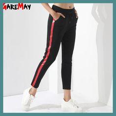 Black Casual Pants Women Harem Striped Pants For Women Pantalon Femme  Pantalones Mujer Cintura Alta Trousers c9c18dc7bba