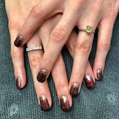 {Martha} chose a gorgeous copper with gold sparkles in preparation for a fabulous NYC trip 💅🏼#glossbeautybarsheboygan
