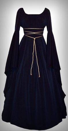 Black renaissance cotton gown