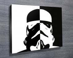STORMTROOPER POP ART $26.00–$741.00 This Star Wars themed canvas artwork features the stunning pop art of the Stormtrooper. As with all art on this site, we offer these prints as stretched canvas prints, framed print, rolled or paper print or wall stickers / decals http://www.canvasprintsaustralia.net.au/ #Wallartonline #Wallart #Photocollageoncanvashigh