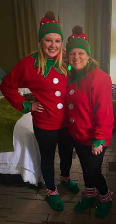 Elf outfit - Elf Shirts - Ideas of Elf Shirts - Elf outfit Christmas Character Costumes, Unique Couple Halloween Costumes, Christmas Costumes, Pirate Costumes, Diy Halloween, Christmas Dress Up, Ugly Christmas Sweater, Christmas Ideas, Diy Elf Costume