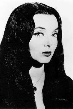 Carolyn Jones as Morticia Addams on the Addams Family TV show, 1960s