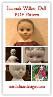 Northdixie Designs- Izannah Walker Doll Pattern in PDF format