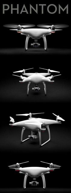 DJI Phantom 4 Quadcopter The DJI Phantom 4 is the smartest flying camera DJI has ever created. Able to fly intelligently with a tap, automatically create seamless tracking shots, fly intelligently ove #flyingamera