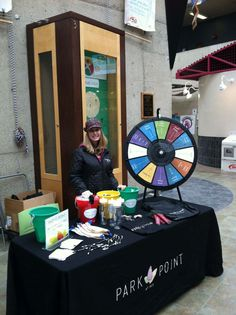 Hey Rochester Institute of Technology students, stop by the Student Alumni Union to spin our prize wheel and get your Park Point questions answered! Buy this Prize Wheel at http://PrizeWheel.com/products/tabletop-prize-wheels/tabletop-black-clicker-prize-wheel-12-slot/.