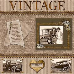 Family Scrapbook Ideas | Vintage...showcase the family automobile | heritage scrapbook ideas