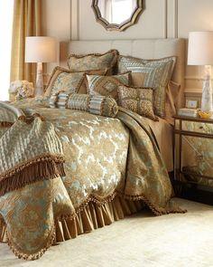 Sweet Dreams Palazzo Como King Scalloped Damask Duvet Cover - $1,375.00