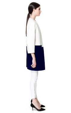 Image 2 of COMBINED COAT from Zara