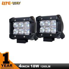 2 stücke 4 Zoll 18 Watt Led Work light Off Road 4x4 4WD ATV UTV SUV Treibende Motorrad Leicht-lkw Nebelscheinwerfer Scheinwerfer Spot Flut 12 v 24 v