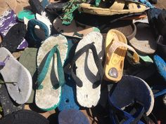 Sculptures Made of Recycled Flipflops