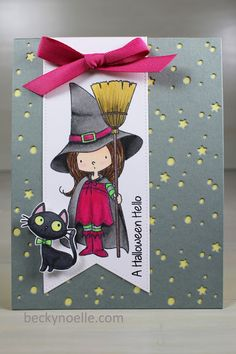 Halloween Hello Card by Beckynoelle My Favorite Things Witch Way is The Candy Stamp
