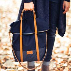Handmade WOLF BLUE bag