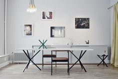 NEB Rectangular table with marble top