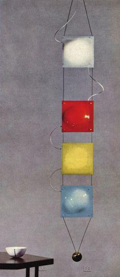 Ceiling lamp for Arredoluce, 1957 Sottsass