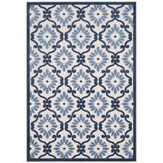 Safavieh Cottage Ivory/ Blue Rug (8' x 11' 2)