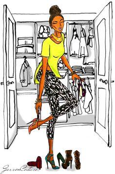 fyblackwomenart:  Getting ready ♥ : : submission: :