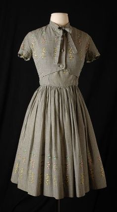 Gown and Bolero, Sambo Fashions, Beatrice Fashion House: ca. 1955, Dutch, cotton; embroidered.