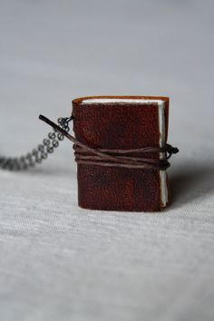 Items similar to Custom Made Book Necklace- Classic Brown leather, Brown twine on Etsy Book Necklace, Design Your Own, Twine, Amy, Brown Leather, Miniatures, Necklaces, Content, Unique Jewelry