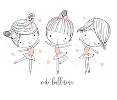 Find Cute ballerina girls stock vectors and royalty free photos in HD. Explore millions of stock photos, images, illustrations, and vectors in the Shutterstock creative collection. of new pictures added daily. Ballerina Drawing, Illustration Girl, Girl Illustrations, Dance Costumes, New Pictures, Royalty Free Photos, Girls, Logo Design, Artsy
