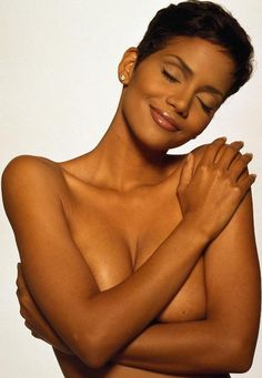 Halle Berry actually may be the most beautiful woman in the world. Just beautiful. ®... #{T.R.L.}