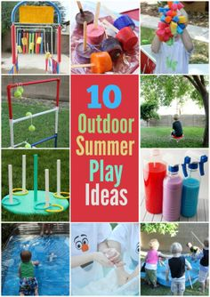 Outdoor Summer Play Ideas - Right Start Blog