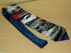Ralph Martin RM Style Dress Tie Necktie Blue Ford Car Models 326891 All Silk