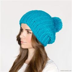 A giant pom pom and a slight slouch makes the perfect crochet hat. French Pompom Beret - Media - Crochet Me