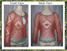 ISLANDER Beach Coverup TOP Crochet PATTERN by crochetbayboutique