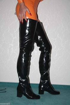 Thigh High Boots Heels, Heeled Boots, Crotch Boots, Hunter Boots Outfit, Sexy Stiefel, Wellies Boots, Fashionable Snow Boots, Square Toe Boots, Long Boots