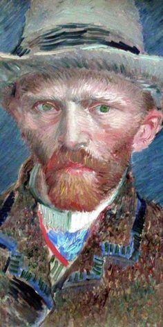 Van Gogh : Autoportrait en chapeau de feutre 1886-1887 (détail)                                                                                                                                                      More