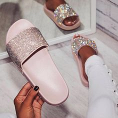 "16.3k Likes, 116 Comments - Fashionaddict (@fashiongoalsz) on Instagram: ""OMG how amazing are these glam diamond slides from @egoofficial  Get 20% off with code:…"""